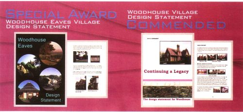 Picture of award certificates